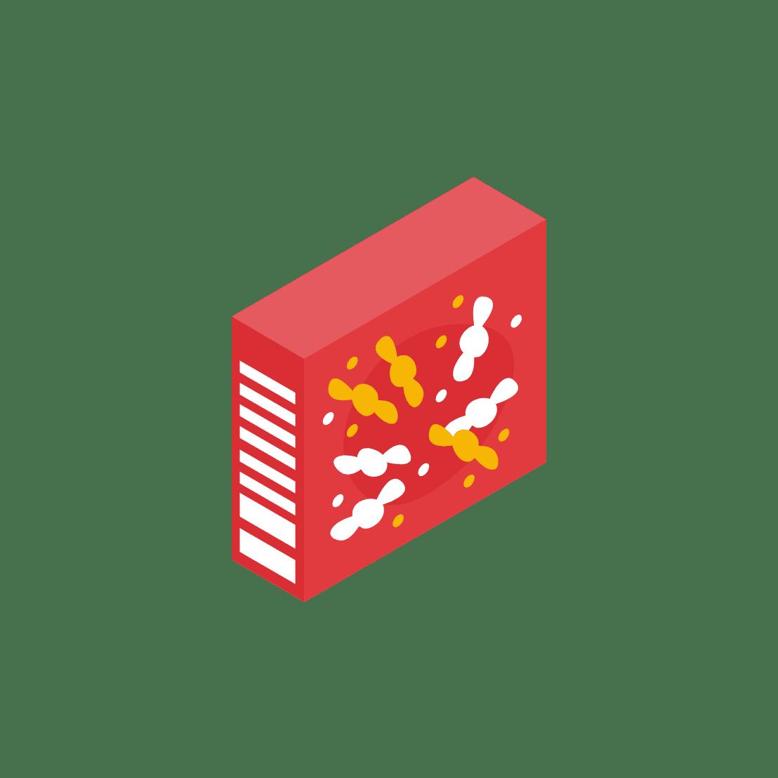 お菓子の箱
