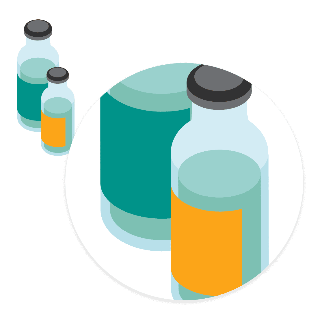 消毒液容器の<br /> ラベル