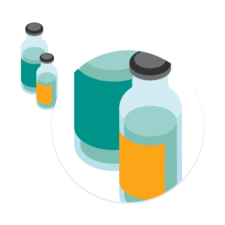 消毒液容器のラベル