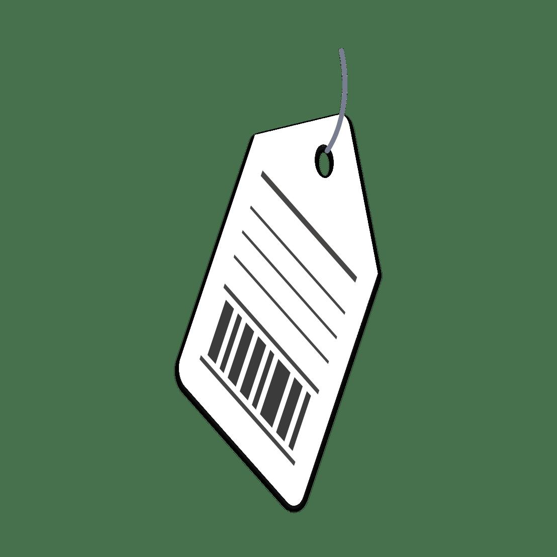 商品のタグ