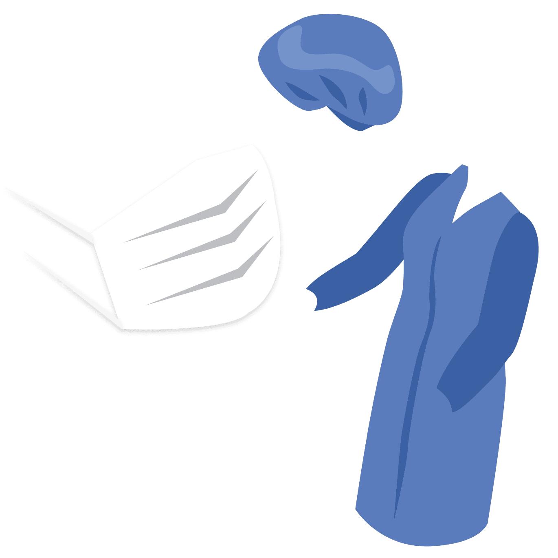 クリーンスーツ・キャップ・マスク